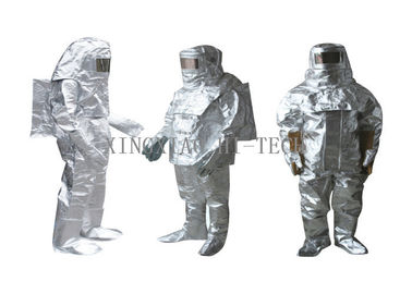 iyi kalite Alev geçirmez Fiberglas Kumaş & High Temperature Aluminized Fire Proximity Protective Clothing Suit Thermal Insulation Satılık